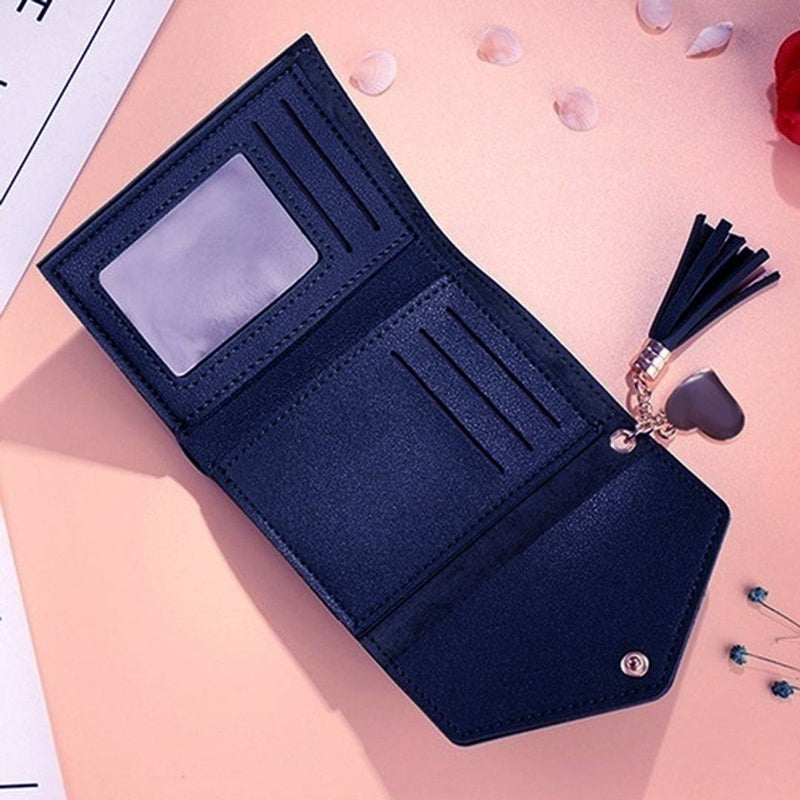 Peach Artificial Leather Solid Women Wallet