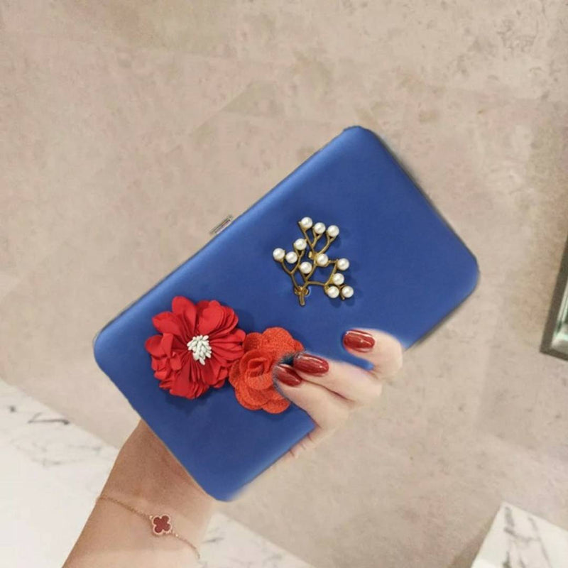 Elegant Flower Clutch For Women
