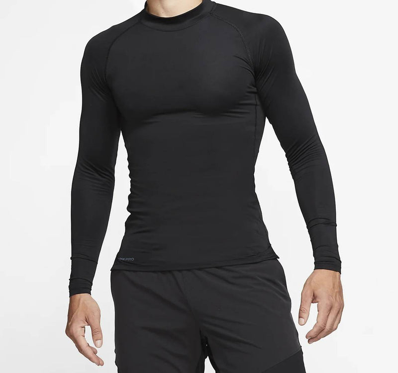 Men's Full Sleeves Round Neck Polyester Spandex Sports T-Shirt - Black