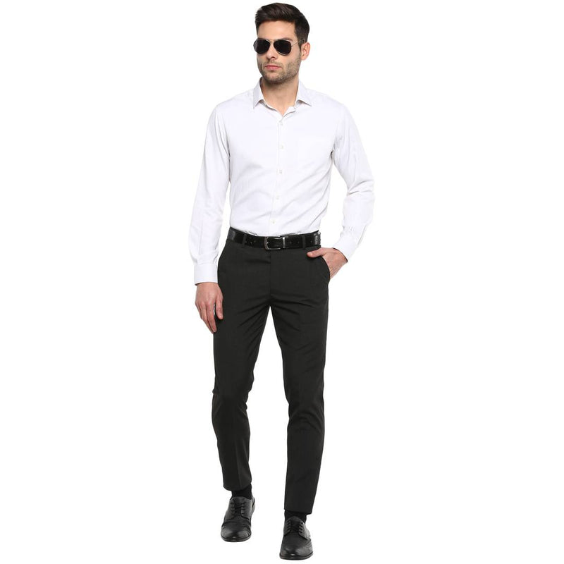 Worsted Grey Slim Fit Formal Trouser