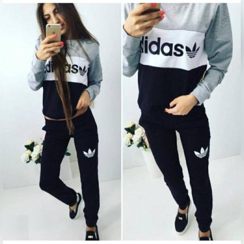 Women's Cotton Multicoloured Free Size Tracksuit