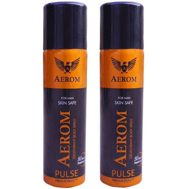 Aerom Pulse & Pulse Deodorant Body Spray For Men, 300 ml (Pack Of 2)