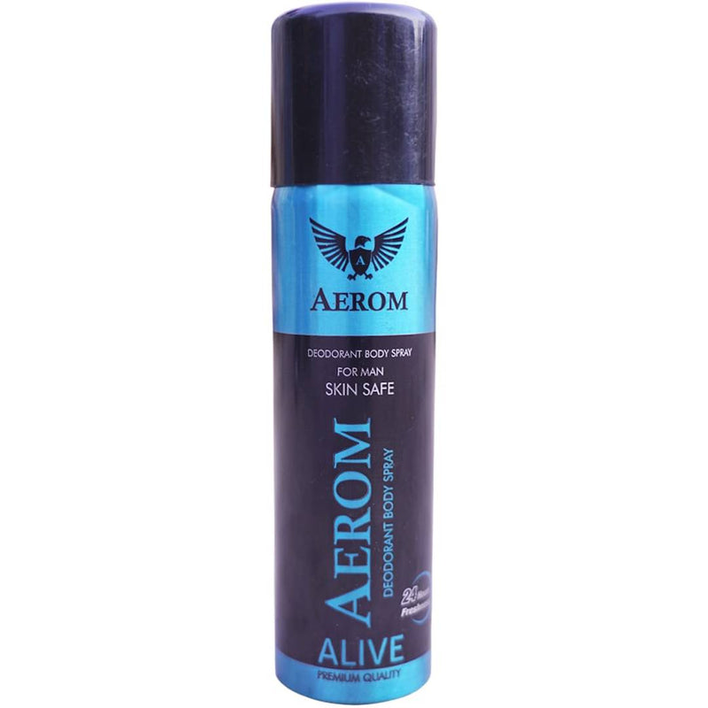 Aerom Alive & Pulse Deodorant Body Spray For Men, 300 ml (Pack Of 2)