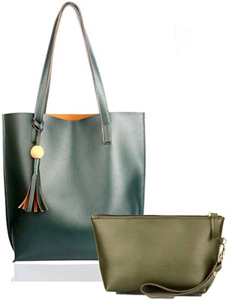 Combo of Green Tote bag & Green Pouch