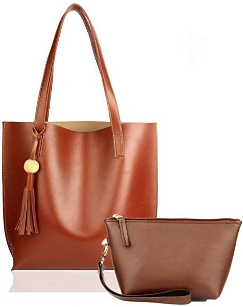 Combo of Tan Tote bag & Tan Pouch