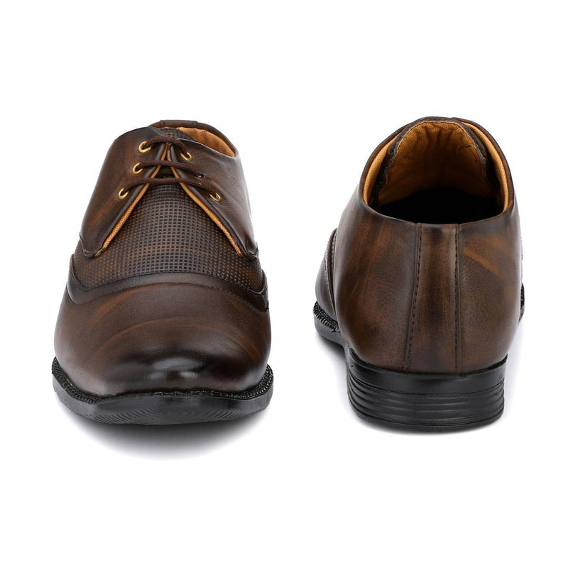Designer Derby Napa Leather Coffee Brown Lace-Ups Office Party Ethnic Wear Formal Shoes