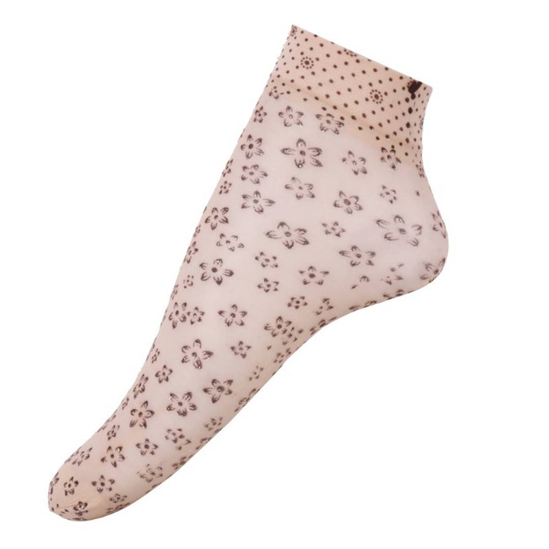Women's Lycra Blend Beige Ankle Length Socks (Free Size, Pack of 3)
