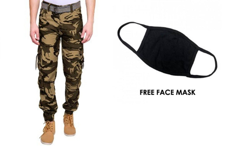FREE FACE MASK WITH STYLISH MEN WESTERN CARGO JOGGER