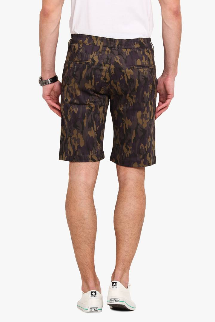 Stylish Cotton Purple Printed Slim Shorts For Men