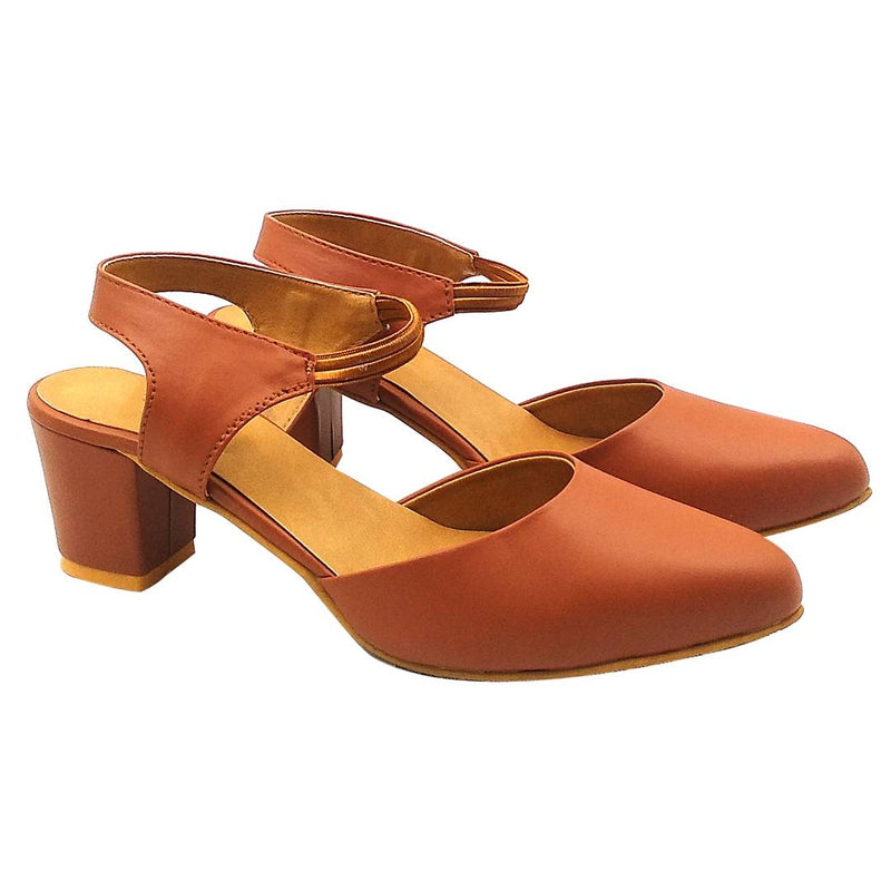 Stylish Orange Heels Sandal For Women & Girls