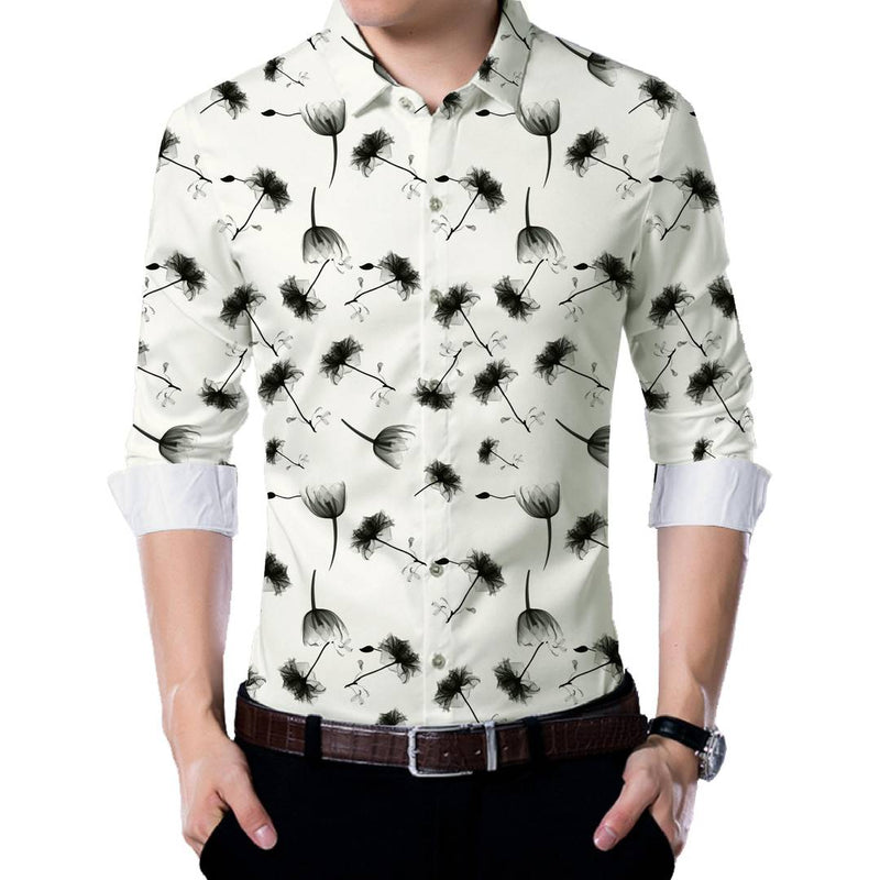 White Poly Blend Unstitched Shirt Piece