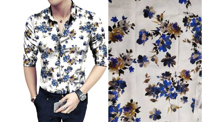 Men's Printed Polycotton Casual Shirts