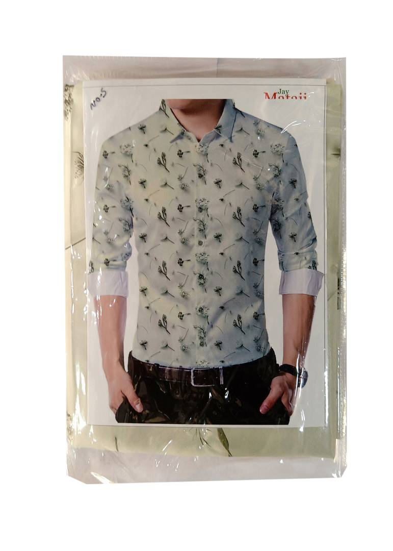 Grey Poly Blend Unstitched Shirt Piece