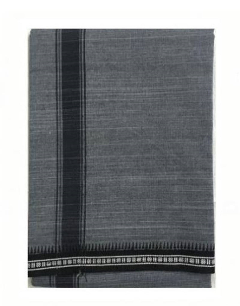 Men's Solid Cotton Dhoti Grey