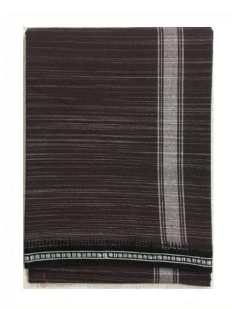 Men's Solid Cotton Dhoti Brown