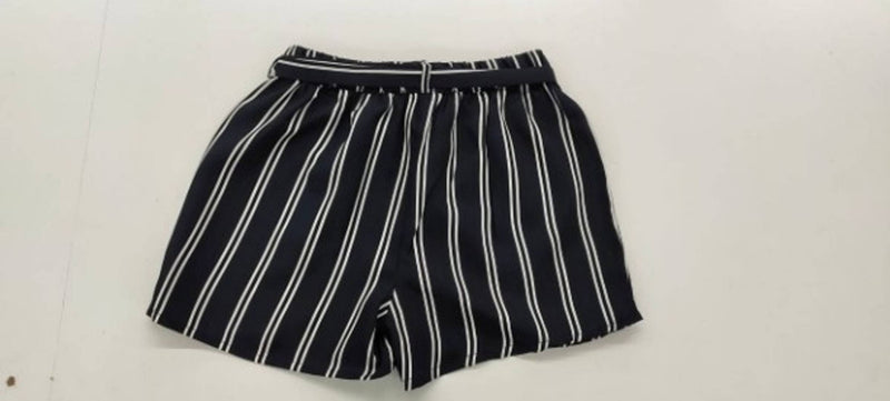 Vivient Women Yellow Stripe Short