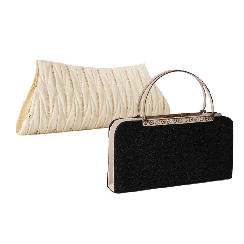 Trendy PU Leather Clutch Combo Set for Women - 02 Piece