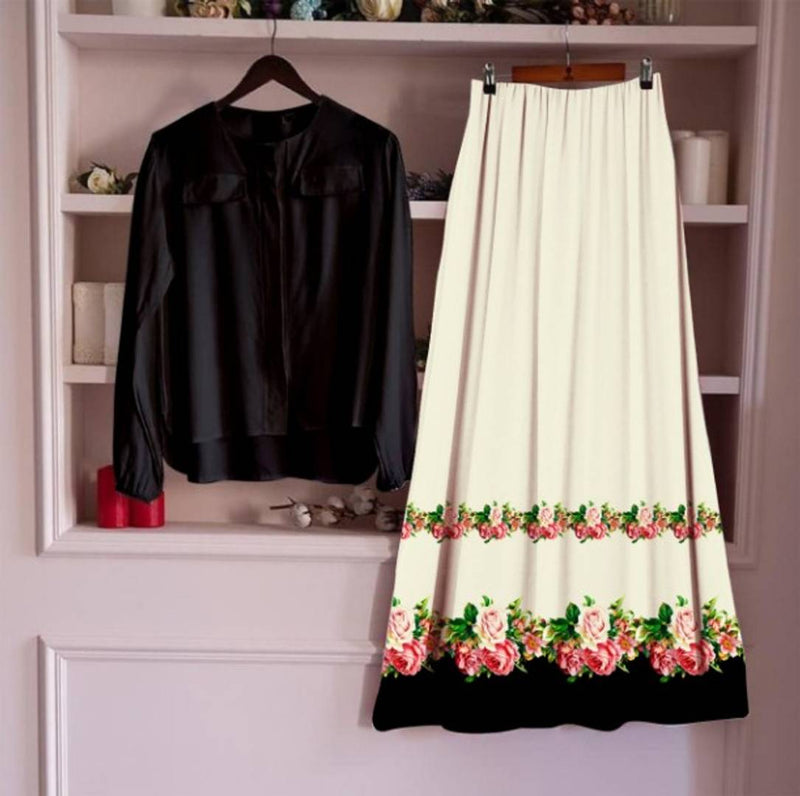 Women's Rayon Top and Skirt Set