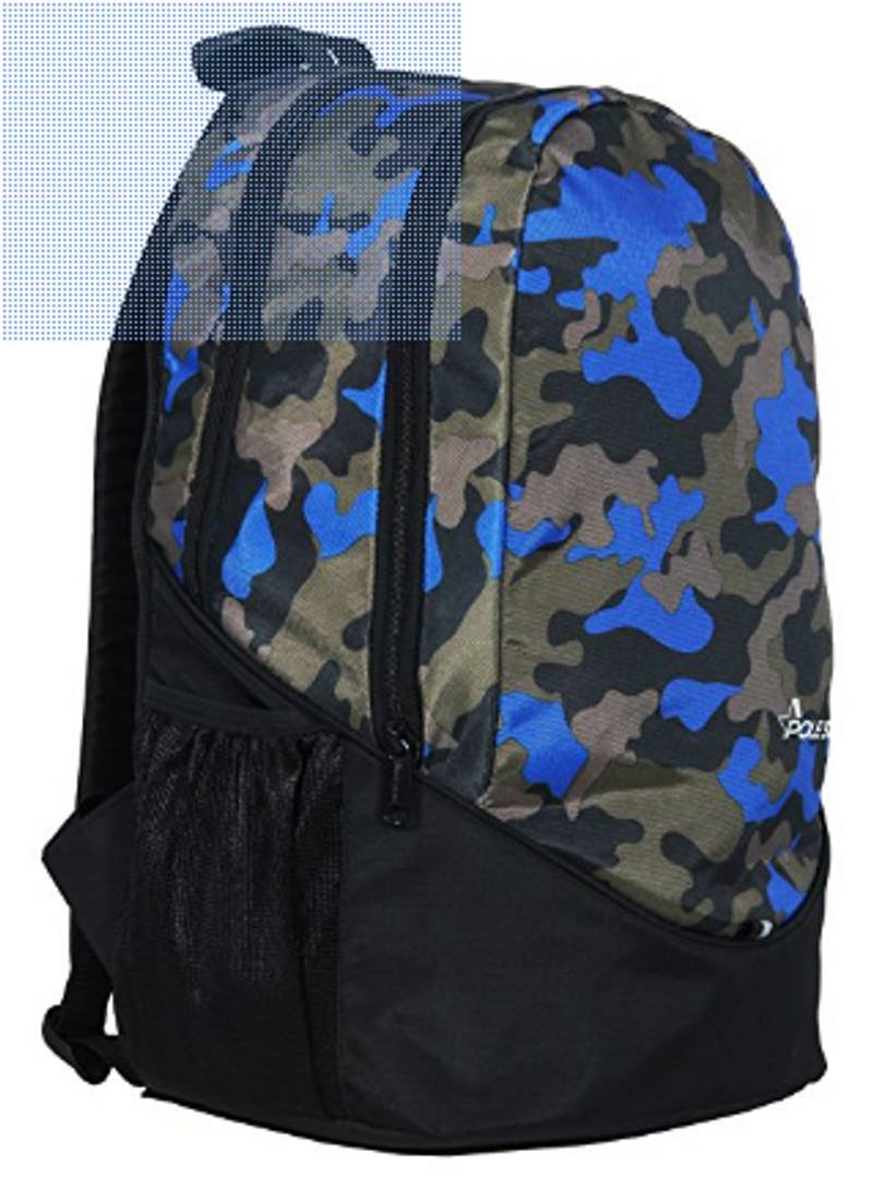 Premium Polyester Lite Weight Camouflage Royal Blue Casual Backpack For Men And Women