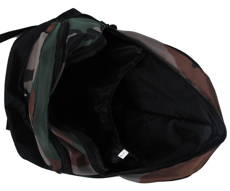 Premium Polyester Lite Weight Camouflage Printed Casual Backpack For Men And Women