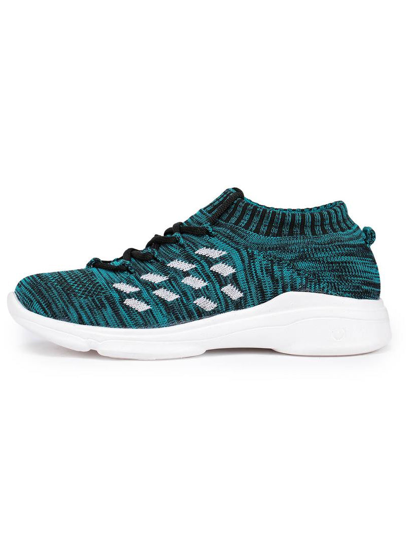 Trendy Green Fabric Running Shoes For Women