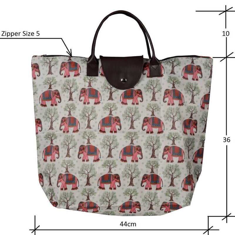 Foldable Polyester Animal Printed Shopping Bag