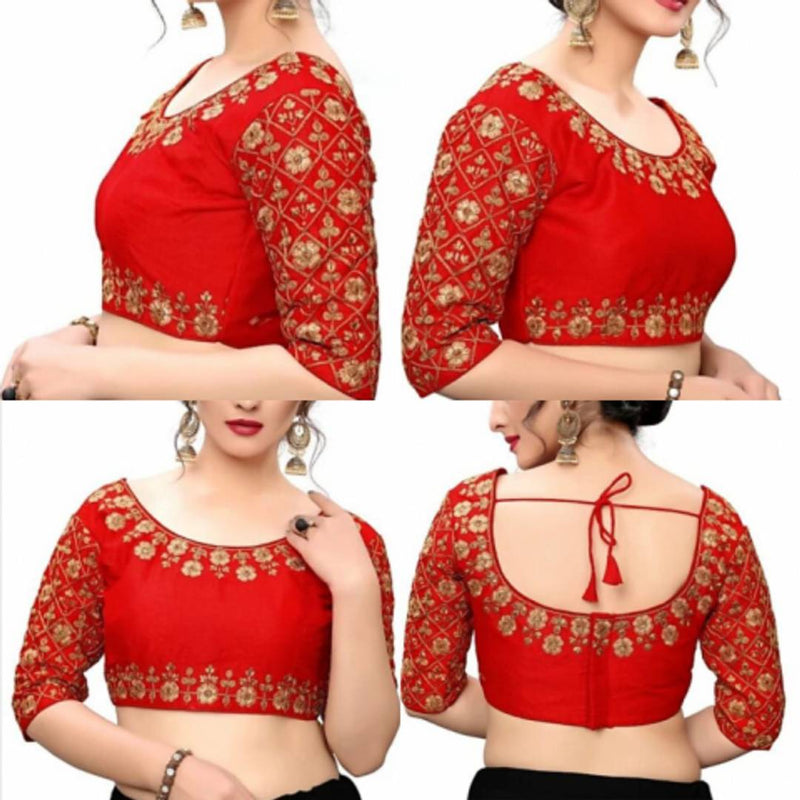 Women's Phantom Silk Embroidered Blouse