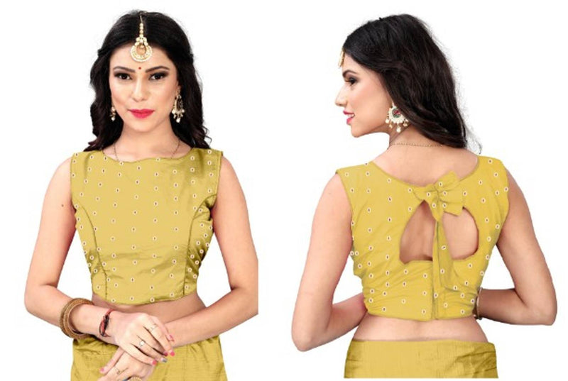 Ruchika Fancy Zari Butti bamboo Silk Fabric blouse