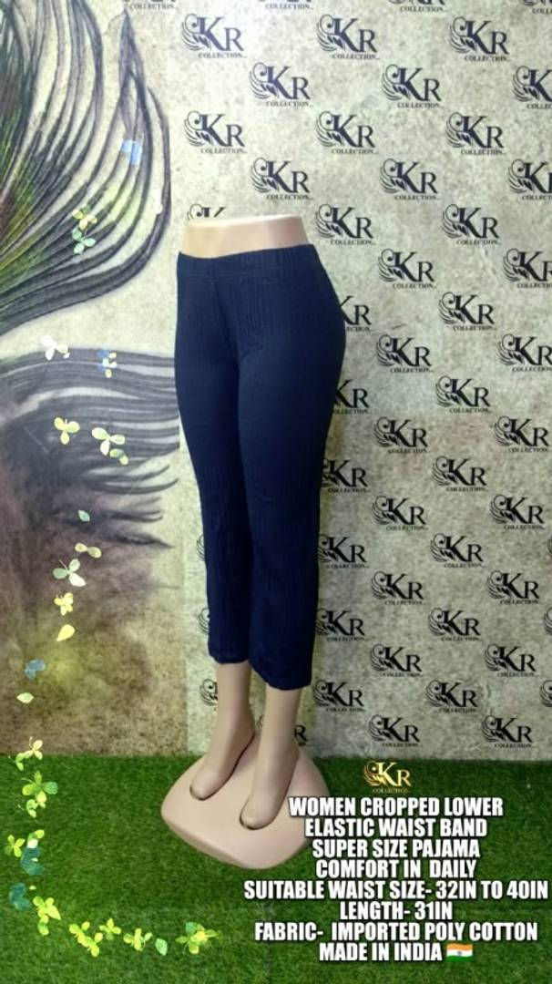 Stylish Polycotton Solid Trouser For Women