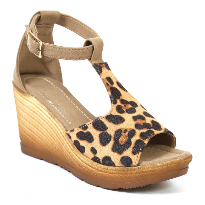 Women's Brown Synthetic Comfortable High Heele Wedges