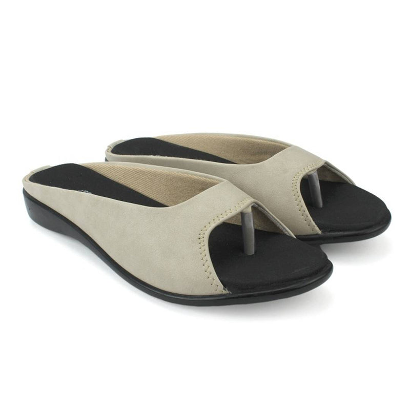 Women's Stylish and Trendy Off White Solid Synthetic Sandals