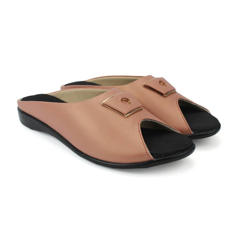 Women's Stylish and Trendy Peach Solid Synthetic Sandals