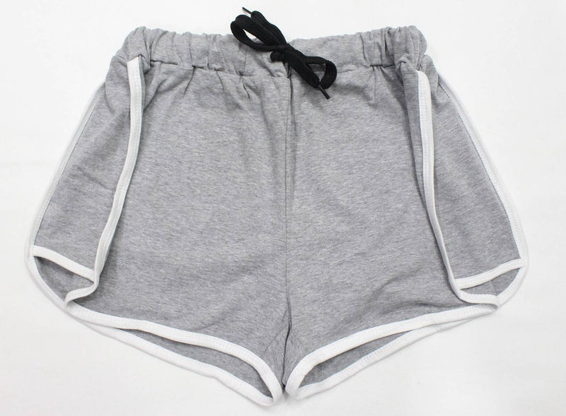 Stylish Cotton Grey Shorts For Women