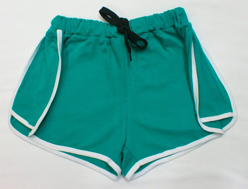 Stylish Cotton Green Shorts For Women
