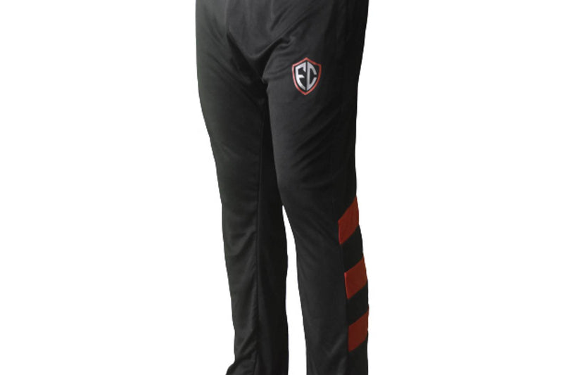 Men's Black Polyester Solid Regular Track Pants