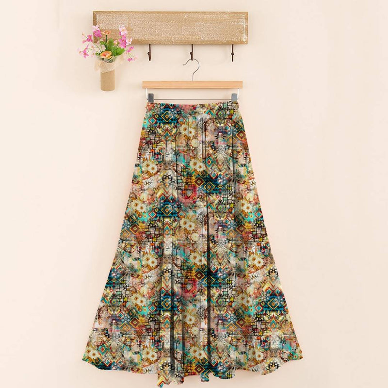 Stylish 14kg Rayon Multicoloured Floral Print Skirt For Women