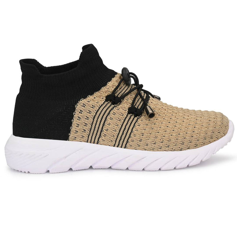 Women's Stylish and Trendy Multicoloured Self Design Knitted Fabric Casual Sports Shoes
