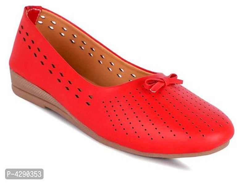 Women's Stylish Red Synthetic Bellies