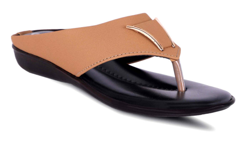 Women's Stylish Copper Synthetic Sandals