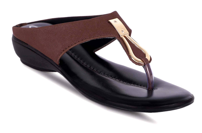Women's Stylish Coffee Synthetic Sandals