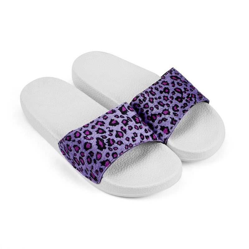 Stylish Purple Synthetic Printed Slip-On Slipper For Women