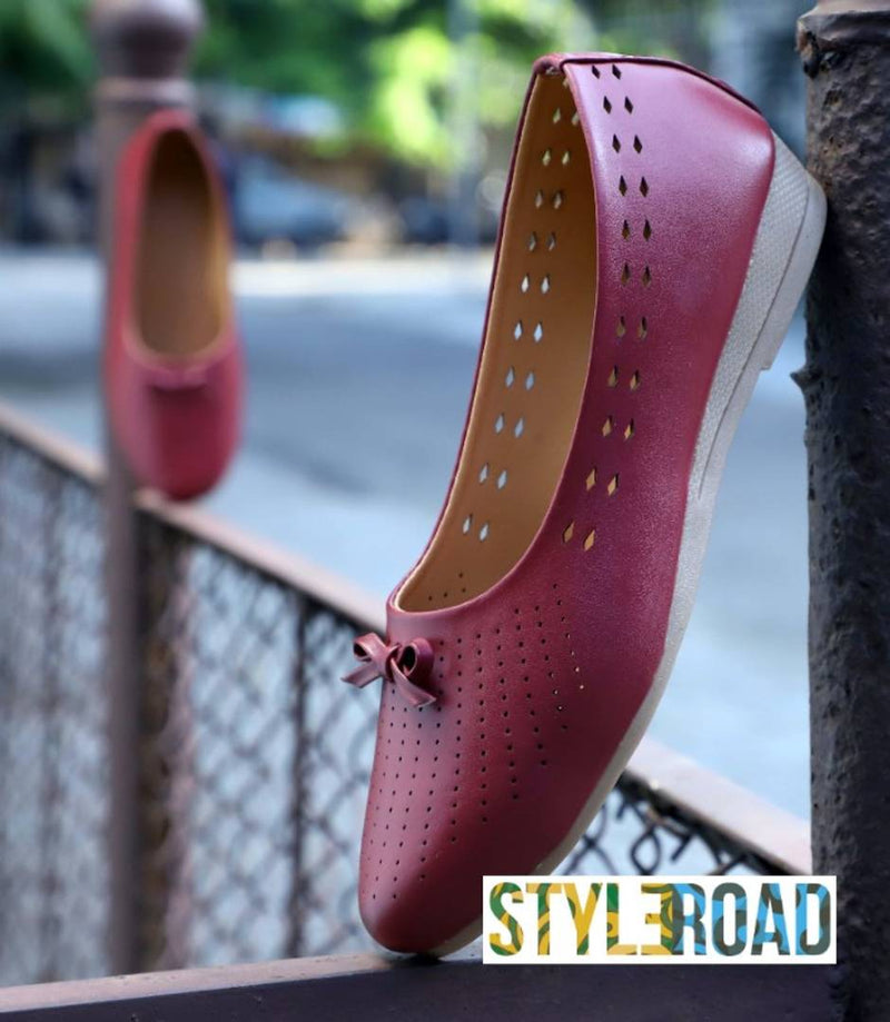 Women's Stylish Pink Synthetic Bellies