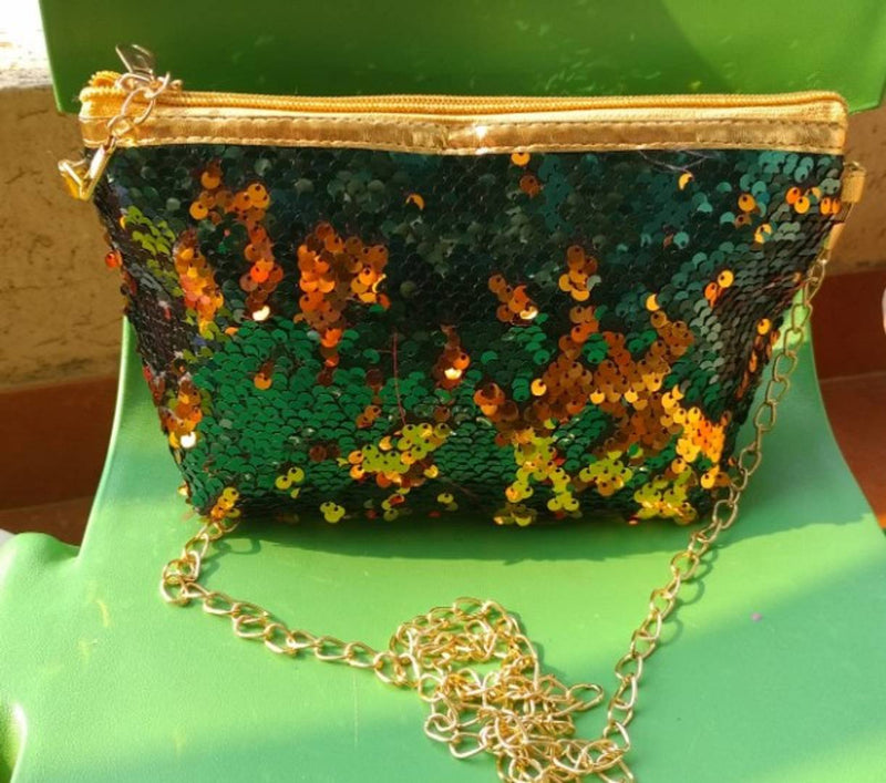 Stylish Sparkle Shining Clutch Cum Sling