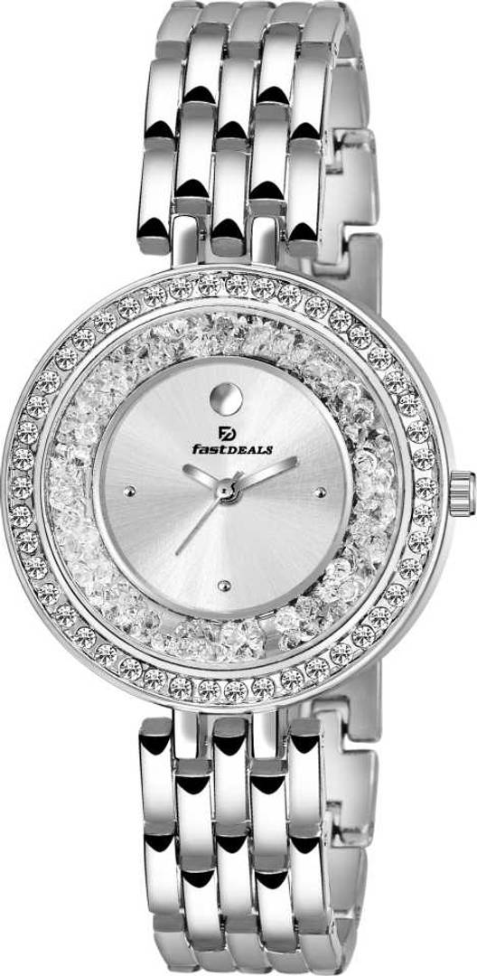 Stylish and Trendy Silver Metal Strap Analog Watch for Women's