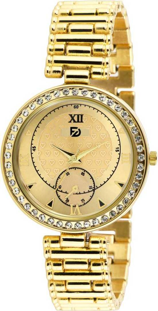 Stylish and Trendy Golden Metal Strap Analog Watch for Women's
