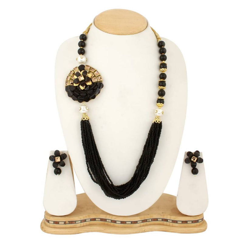 Beautiful Side Pendant Necklace Set For Women's