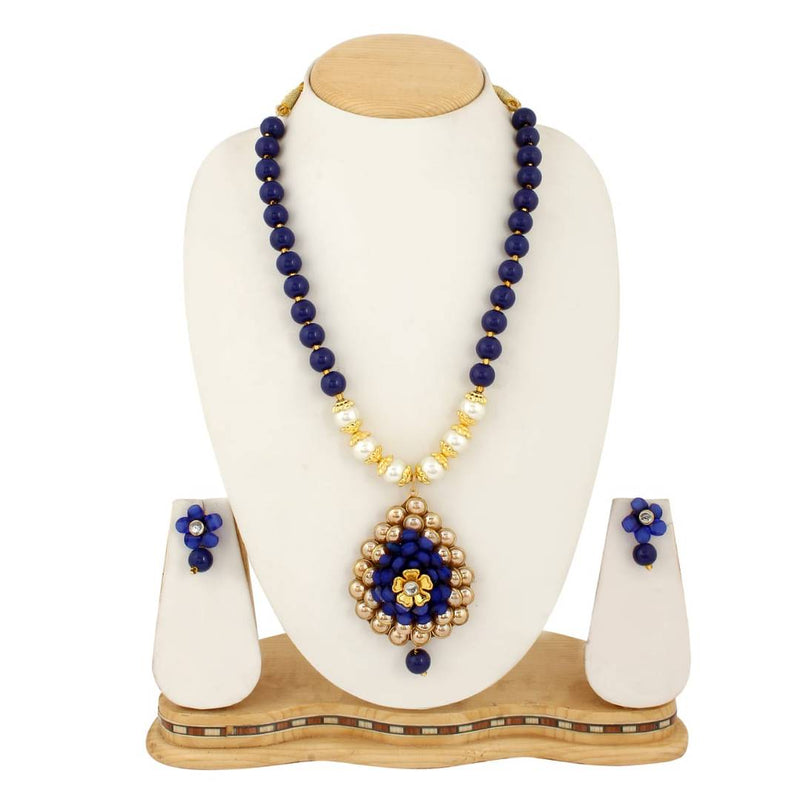 Heavy Beads Necklace With Beautiful Pendent For Women's