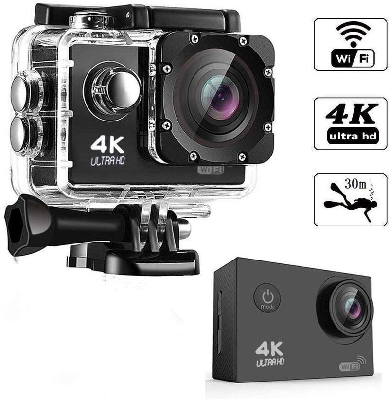 Riotwired 4K Ultra HD Water Resistant Sports Wi-Fi Action 16MP Camera with Remote Control