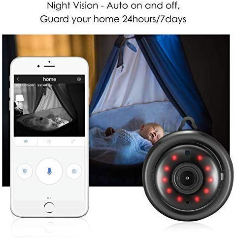 Mini WiFi Full HD Camera with Motion Detection & Two Way Audio