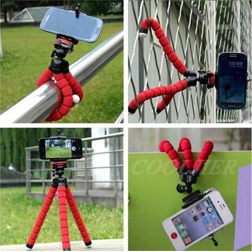Riotwired Flexible Padded Tripod with Mount Compatible with All Mobile Phones and Digital Cameras